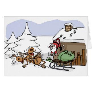 Santa Weggie Christmas Seasons Greetings Card