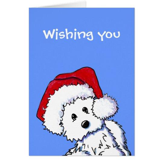 Santa Westie Dog Card