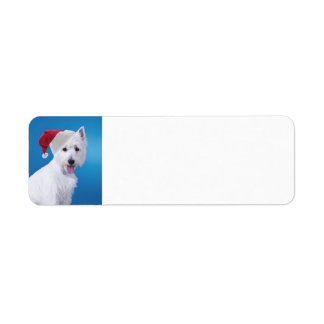 Santa Westie Return Address Labels