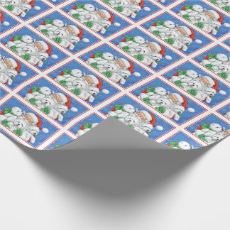 Santa & Westies Wrapping Paper