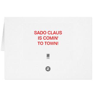 SANTA WHIP GREETING CARD