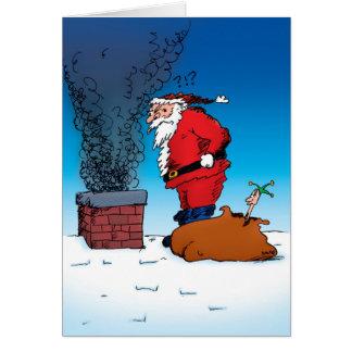 Santa Whiz Funny Cartoon Card