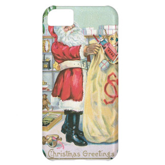 Santa with a big bag of gifts iPhone 5C covers
