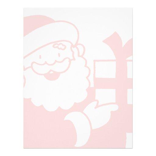 Santa With a Present Letterhead Design