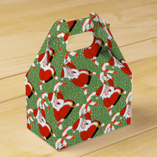 Santa with Candy Canes Christmas Gift Box
