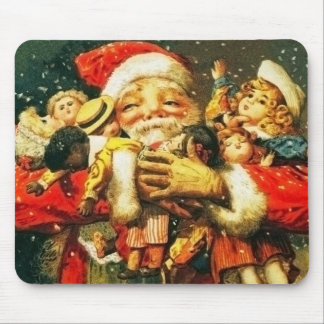 Santa with Dolls Mouse Pad
