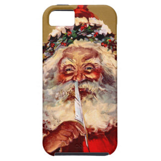 Santa with Feather Case For The iPhone 5