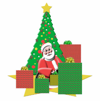 Santa With Presents Christmas Tree Ornament Cut Outs