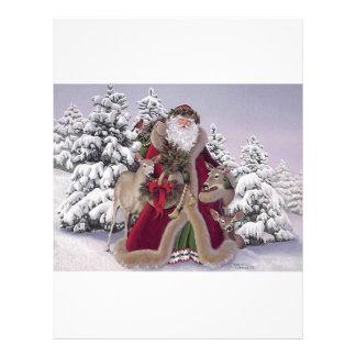 Santa with Reindeer Letterhead
