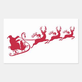 Santa with sleigh and reindeer,  Christmas design Sticker