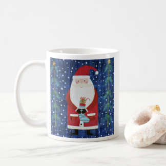 Santa with Stocking Coffee Mug