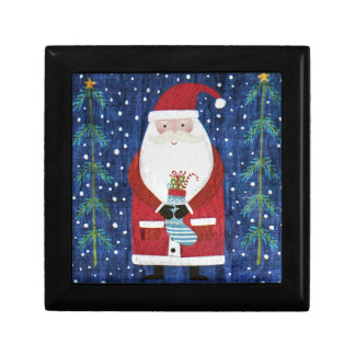 Santa with Stocking Gift Box