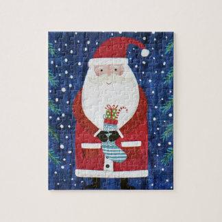 Santa with Stocking Jigsaw Puzzle