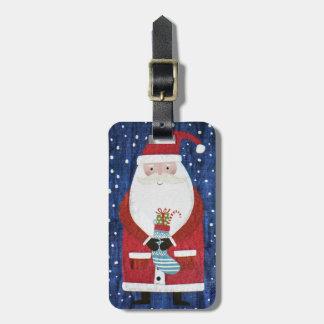 Santa with Stocking Luggage Tag