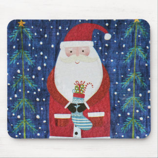 Santa with Stocking Mouse Pad