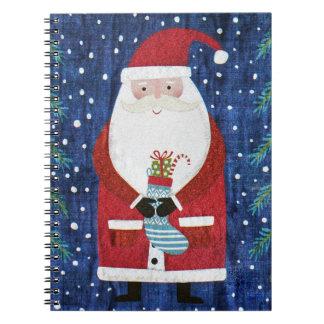 Santa with Stocking Notebooks