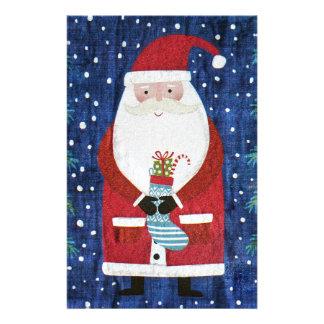 Santa with Stocking Stationery
