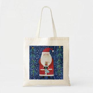 Santa with Stocking Tote Bag