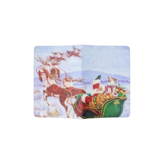 Santa with the sleigh passport holder