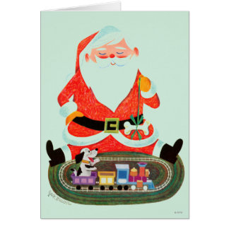 Santa with Train Card