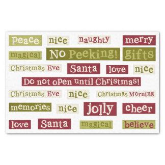 Santa Word Art Christmas TISSUE PAPER