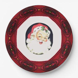 Santa Wreath Paper Plate