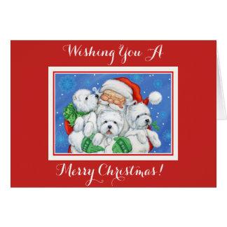 Santa x West Highland Terrier Christmas Card