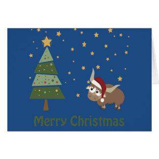 Santa Yak Christmas Scene Card