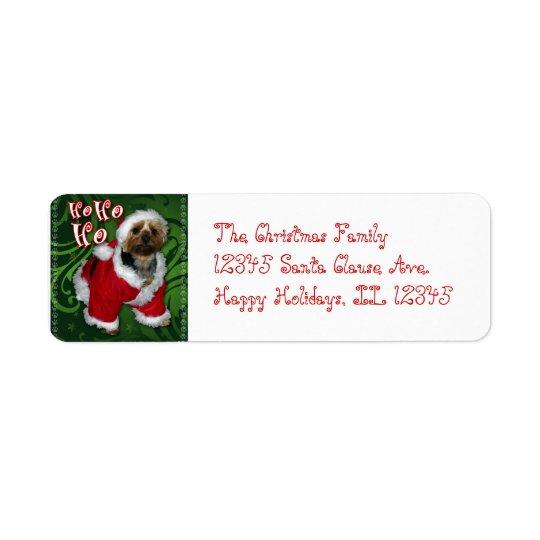 Santa Yorkie Address Label