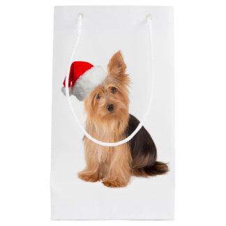 Santa Yorkie Gift Bag