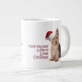 Santa Yorkie Jumbo Christmas Mug