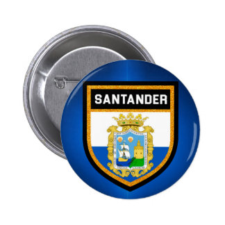 Santander Flag 2 Inch Round Button