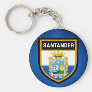 Santander Flag Basic Round Button Keychain
