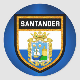 Santander Flag Classic Round Sticker