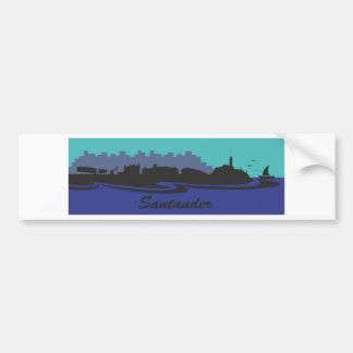 Santander Skyline Waves Bumper Sticker
