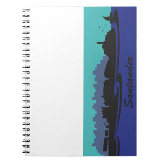 Santander Skyline Waves Spiral Note Books