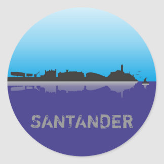 Santander sticker skyline