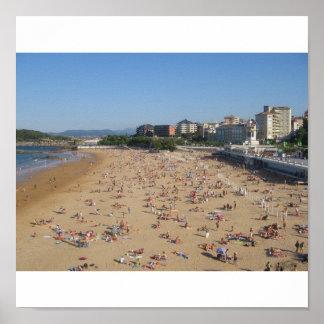 Santander's beach poster