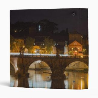 Sant'Angelo Bridge over the Tiber River Vinyl Binders