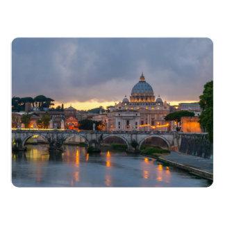 Sant'Angelo bridge Saint Peter Basilica Rome Italy Card