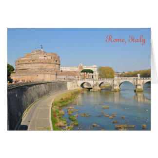 Sant'Angelo Castle in Rome, Italy Card