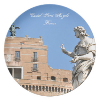 Sant'Angelo Castle in Rome, Italy Plate