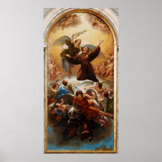Sant'Antonio in Gloria by Odorico Politi Poster
