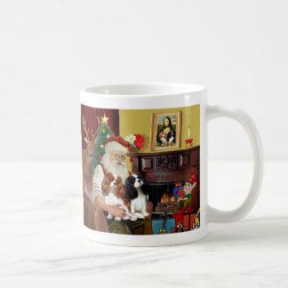 Santa's 2 Cavalier Kings Charles Coffee Mug