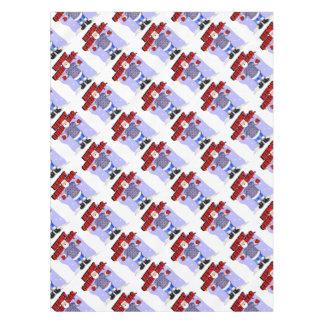 Santa's Argyle Sweater Tablecloth