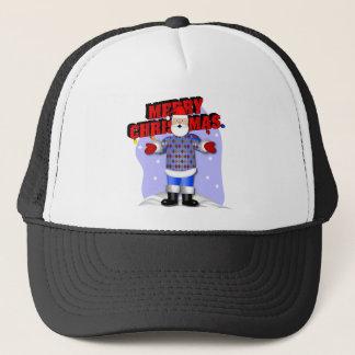 Santa's Argyle Sweater Trucker Hat