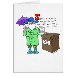 Santa's Autocorrect Christmas Card