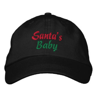 Santa's Baby Christmas Cap Embroidered Hat