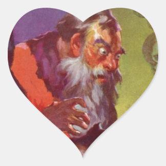 Santa's Bad Cats Heart Sticker