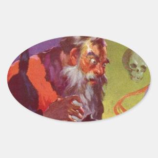 Santa's Bad Cats Oval Sticker